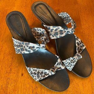 Donald Pliner Heeled Leopard Sandals